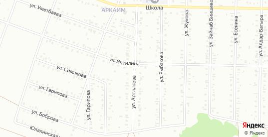 Улица Кинзи Арсланова в Сибае с номерами домов на карте. Спутник и схема онлайн