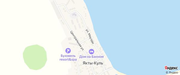 Улица Маузды на карте деревни Якты-Куль Башкортостана с номерами домов