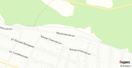 Мукасовская улица в Сибае с номерами домов на карте. Спутник и схема онлайн