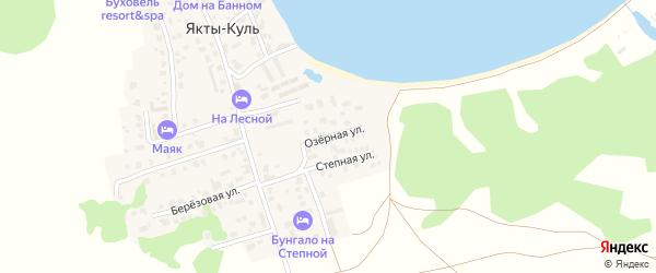 Озерная улица на карте деревни Якты-Куль Башкортостана с номерами домов