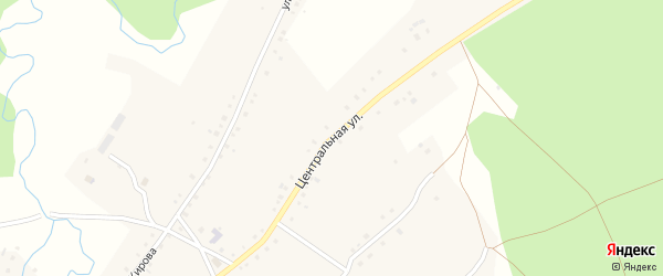 Центральная улица на карте села Терменево с номерами домов