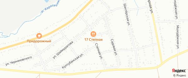 Степная улица на карте Сибая с номерами домов