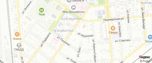 Улица Морозова на карте Сибая с номерами домов