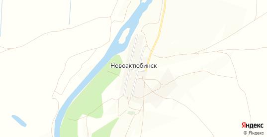 Карта села Новоактюбинск в Гае с улицами, домами и почтовыми отделениями со спутника онлайн