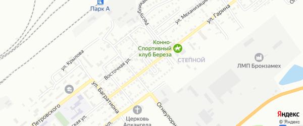 Садовый переулок на карте Орска с номерами домов