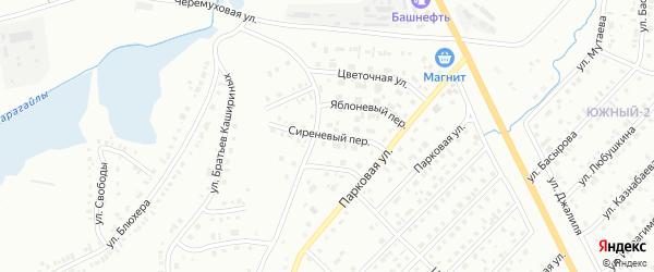 Сиреневый переулок на карте Сибая с номерами домов