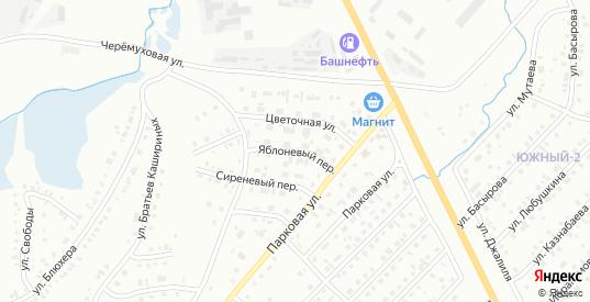 Яблоневый переулок в Сибае с номерами домов на карте. Спутник и схема онлайн