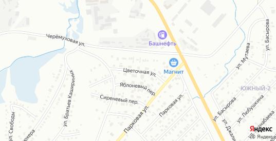Цветочная улица в Сибае с номерами домов на карте. Спутник и схема онлайн