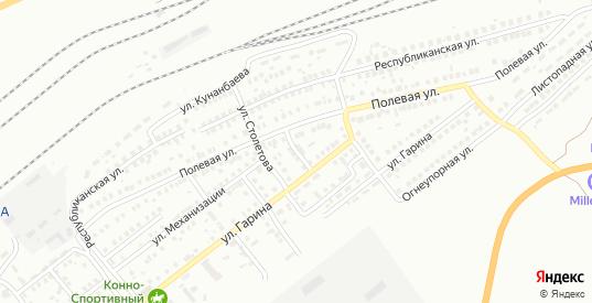 Переулок Гарина в Орске с номерами домов на карте. Спутник и схема онлайн