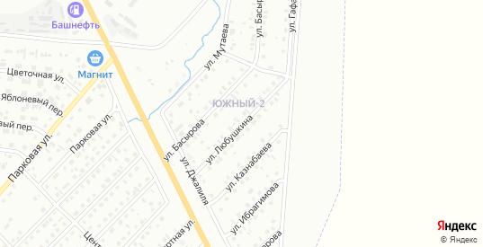 Улица Любушкина в Сибае с номерами домов на карте. Спутник и схема онлайн