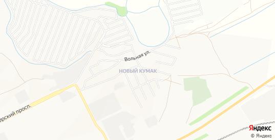 Карта поселка Новый Кумак в Орске с улицами, домами и почтовыми отделениями со спутника онлайн