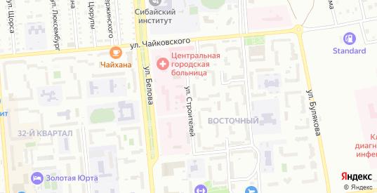 Улица Строителей в Сибае с номерами домов на карте. Спутник и схема онлайн