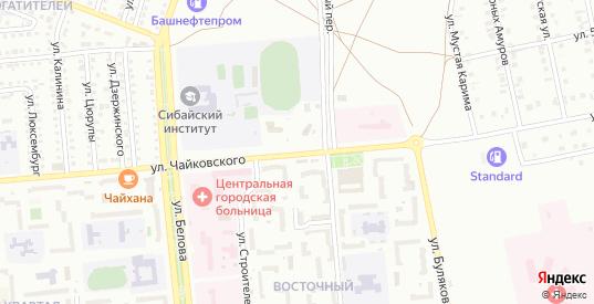 Улица Чайковского в Сибае с номерами домов на карте. Спутник и схема онлайн