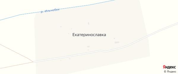 Северная улица на карте села Екатеринославки Оренбургской области с номерами домов