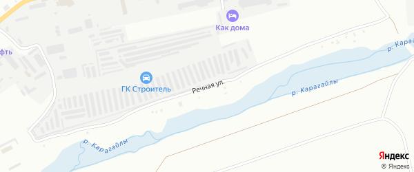 Речная улица на карте Сибая с номерами домов