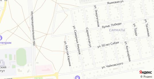 Улица Северных Амуров в Сибае с номерами домов на карте. Спутник и схема онлайн