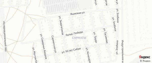 Бульвар Победы на карте Сибая с номерами домов