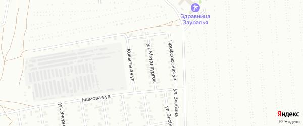 Улица Металлургов на карте Сибая с номерами домов