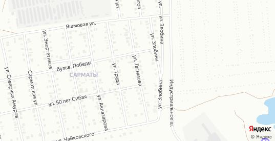 Улица Тасимова в Сибае с номерами домов на карте. Спутник и схема онлайн