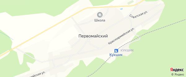 Карта села Первомайского в Башкортостане с улицами и номерами домов