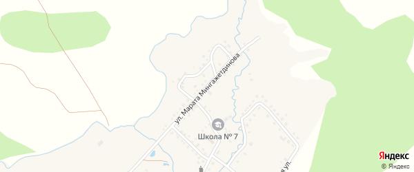Улица Марата Мингажетдинова на карте деревни Кубагушево с номерами домов