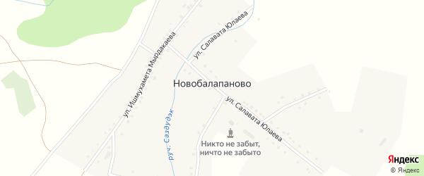 Молодежная улица на карте деревни Новобалапаново с номерами домов