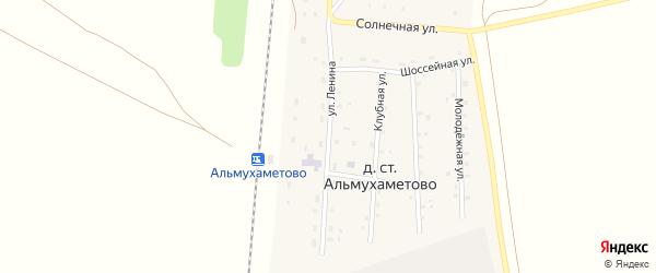 Улица Ленина на карте деревни Альмухаметово Башкортостана с номерами домов