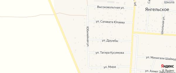 Юбилейная улица на карте Янгельского села с номерами домов