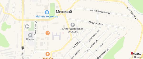 Сад Горняк-1 СНТ (Восточная) на карте Межевого поселка с номерами домов