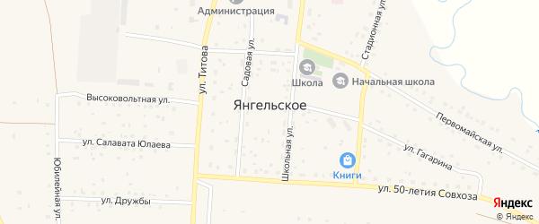 Улица Мустая Карима на карте Янгельского села с номерами домов