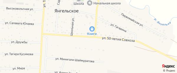 Улица 50-летия совхоза на карте Янгельского села с номерами домов