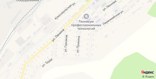 Улица Пушкина в Бакале с номерами домов на карте. Спутник и схема онлайн