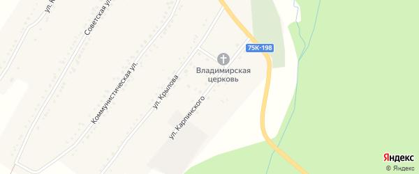 Улица Карпинского на карте Бакала с номерами домов