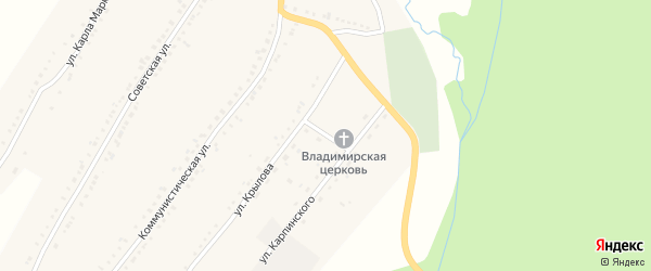 Улица Спортивный заезд на карте поселка Рудничного с номерами домов