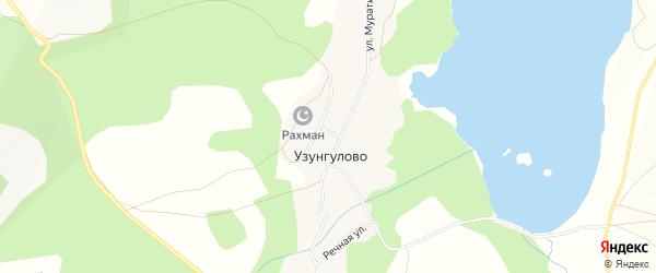 Карта деревни Узунгулово в Башкортостане с улицами и номерами домов