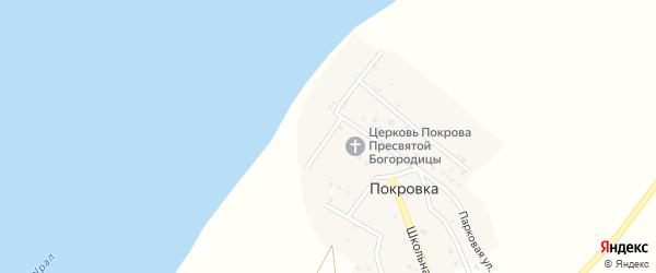 Набережная улица на карте села Покровки Оренбургской области с номерами домов