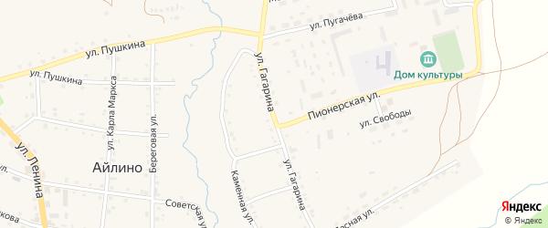 Улица Гагарина на карте села Айлино с номерами домов