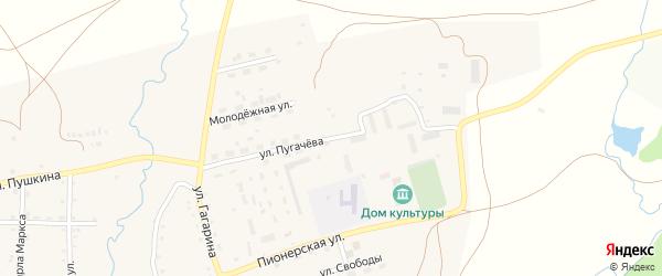Улица Пугачева на карте села Айлино с номерами домов