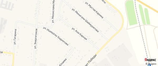Али Карная улица на карте села Красной Башкирии Башкортостана с номерами домов
