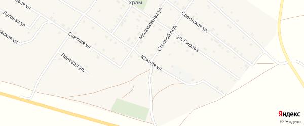 Южная улица на карте Смеловского поселка с номерами домов