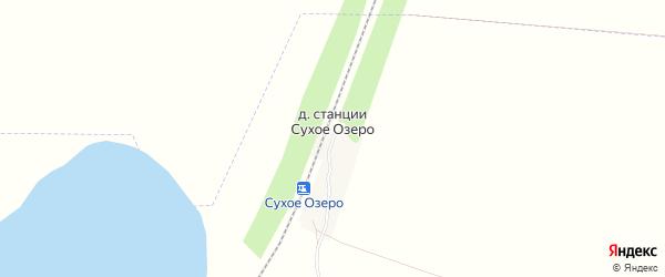 Карта деревни Станции Сухое Озеро в Башкортостане с улицами и номерами домов