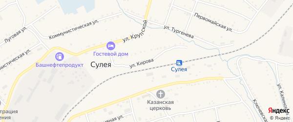Улица Кирова на карте поселка Сулеи с номерами домов