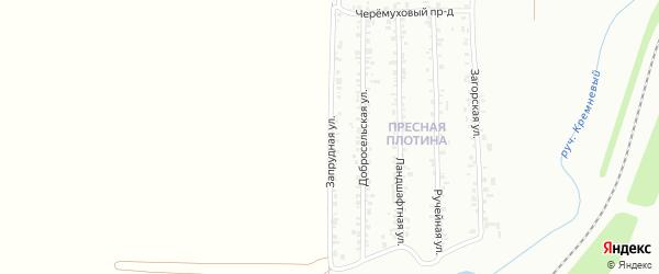 Запрудная улица на карте Магнитогорска с номерами домов