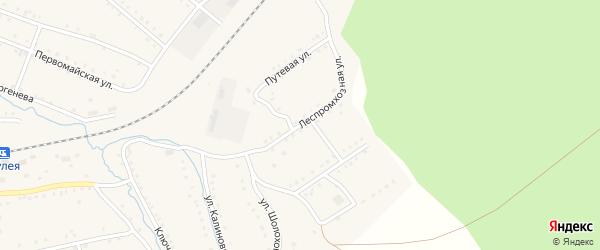 Леспромхозная улица на карте поселка Сулеи с номерами домов