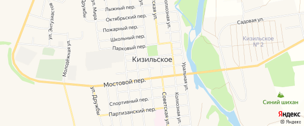 Карта Кизильского села в Челябинской области с улицами и номерами домов