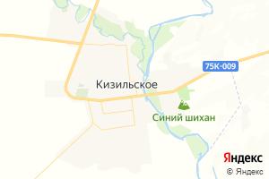 Карта с. Кизильское Челябинская область
