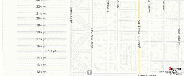 Юбилейная улица на карте Магнитогорска с номерами домов