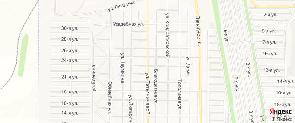 Карта поселка Западного 2 города Магнитогорска в Челябинской области с улицами и номерами домов