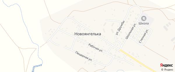 Степная улица на карте поселка Новоянгельки Челябинской области с номерами домов