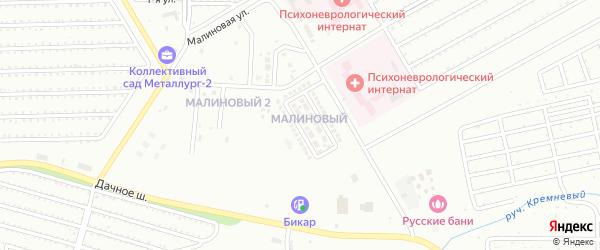 Улица Василия Овсянникова на карте Магнитогорска с номерами домов